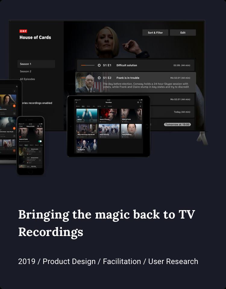 Bringing the magic back to TV Recordings
